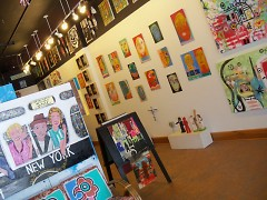 The interior of Sanctuary Folk Art gallery on South Division