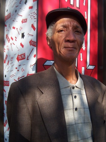 Mr. Jones outside the Selfridges location of Exhibition #4