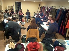 First day of rehearsal with the cast and crew