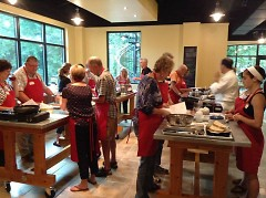 Previous cooking class at Thought Design