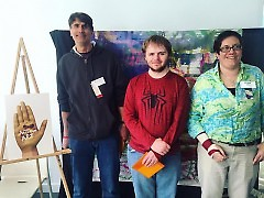 Tyler with the other Juror's Choice winners at ACTion Art 2016