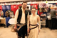 GR Comic Con attendees dressed as Han Solo and Rey from Star Wars