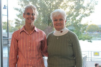 Tammy Brink, left, and her mother Karen Brink drove from Holland, Mich. to attend Candid Conversations.