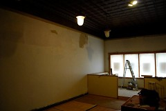 Stripped wall, ready for a mural...