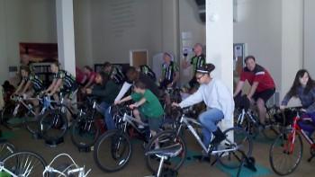 Riders enjoy the spin marathon..