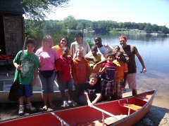 Canoeing class at Camp Tall Turf's 2011 Asthma Camp Session