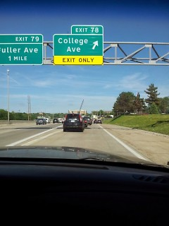 College Ave. exit
