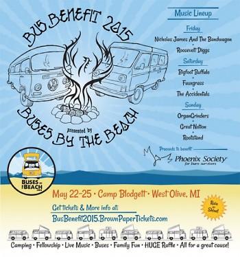 Bus Benefit raises funds for Phoenix Society For Burn Survivors.