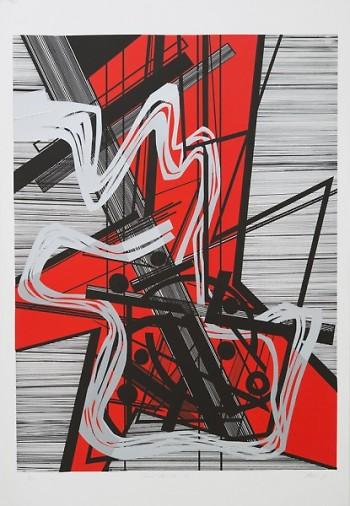 Mavis Pusey (American, 1928-2019). Paris Mai-Juin 68, 1968. Color screen print on paper, 33 x 24.5 inches.