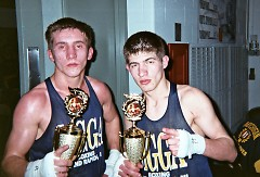 Brothers Burim (L) and Defrim Beqiri both won West Michigan titles in their weight classes