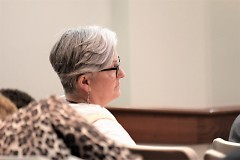 GRPS Special Eduction Director Laura LaMore listens to comments being made at the March 19 2018 school board meeting