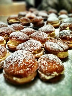 Krapfen, prepared for last year's Fasching Dance, will be available again this year.