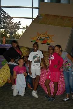 Teen girls enjoy spending time together through their Urban Family Ministries Bible study