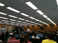 Standing room only at the City Commission meeting.