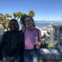 Aliya Hall and Maeve Wilbourn sightseeing in San Francisco.