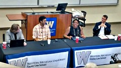 Russell Olmstead, Mariano Avila, Breannah Alexander, Williamson Wallace on a Solutions Summit panel.