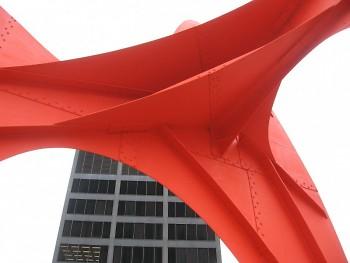 La Grande Vitesse sculpture by Alexander Calder, in front of Grand Rapids City Hall.