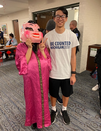 Census ambassadors at Grand Valley State University for the Asian Student Union's Lunar New Year event on February 14, 2020
