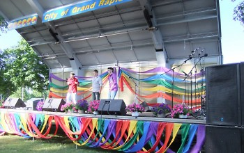 Live entertainment at last year's Pride Festival.