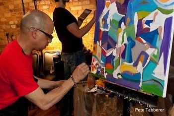 Erik Picardo paints for ABC