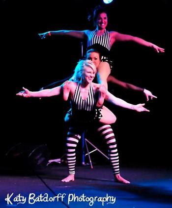 Ladies from Bangarang Circus show off their acrobatics.