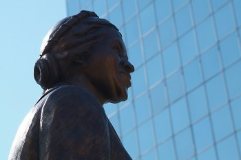 Rosa Parks statue at Rosa Parks Circle in downtown Grand Rapids.