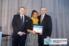 Chelsea Flemings being awarded 2015 Youth of the Year.