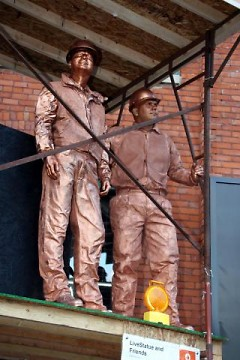 "ArtPrize Top 10 artists Robert Shangle and (son) Jasper Shangle perform their entry ""Under Construction"""
