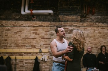John Vesbit as Stanley Kowalksi and Sherryl Despres as Blanche Dubois, rehearsal.
