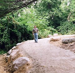 Mark Siegrist tries out the trail.