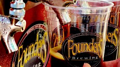 Founders specialty beer being poured
