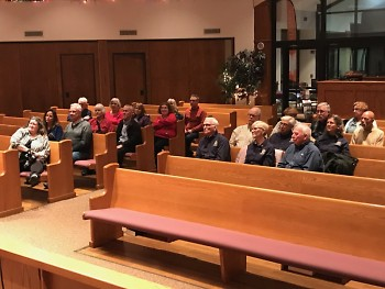 Over 30 volunteers arrived to be recognized at Fulton Heights Citadel