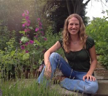 Starner in her garden