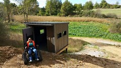 The Sharonville State Game Area has adaptive blinds to help aid those with health challenges get a better view.