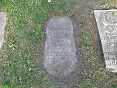 Albert Baxter's grave
