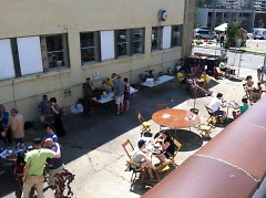 The Alleyway Cafe transformed a vacant space into a vibrant community gathering space.