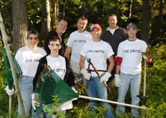 Amway volunteers worked hard at Camp Manitou-Lin.