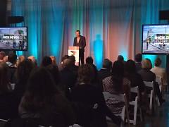 Board Chair Rick DeVos speaks at ArtPrize's 2016 Annual Report Breakfast