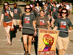 Images from the youth march with Until Love Is Equal