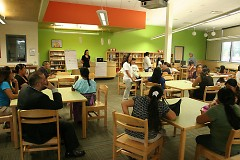 Parents and neighbors in the B2B West Zone discuss ways to support their kids for success.