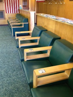 Alger Barber Shop waiting area