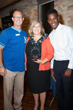 BE GREAT Outstanding Business Award recipients, Ron and Janet Knaus, with BGC Executive Director and 2014 Youth of the Year.