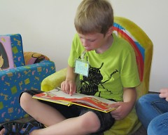 Practicing reading and motor skills