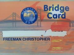 My old Bridge card. (SNAP CARD)