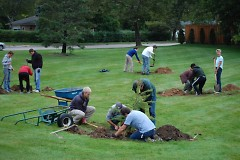Planting at Brookside CRC