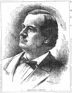 Democrat William Jennings Bryan, circa 1896