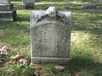 This marker for the late Melvin Buchanan (1843-1896) is among the many old monuments at Oakhill Cemtery.