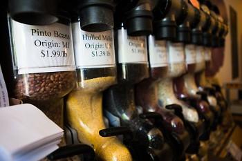 Nourish Organic Market's bulk section