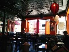 Interior of the San Chez Café