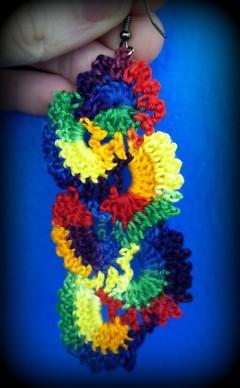 Delicately crocheted cascading earrings